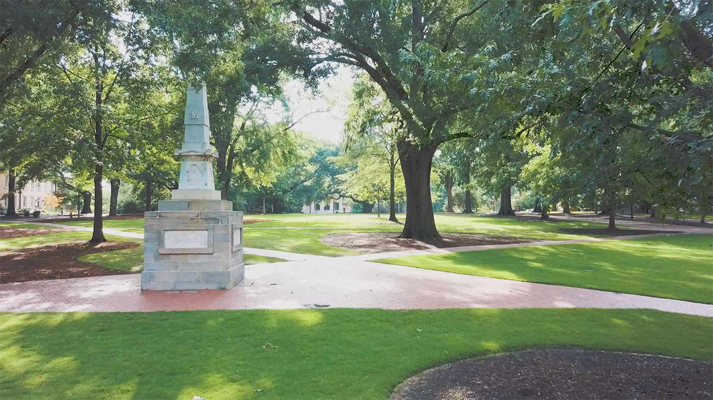 Maxcy monument on the horseshoe